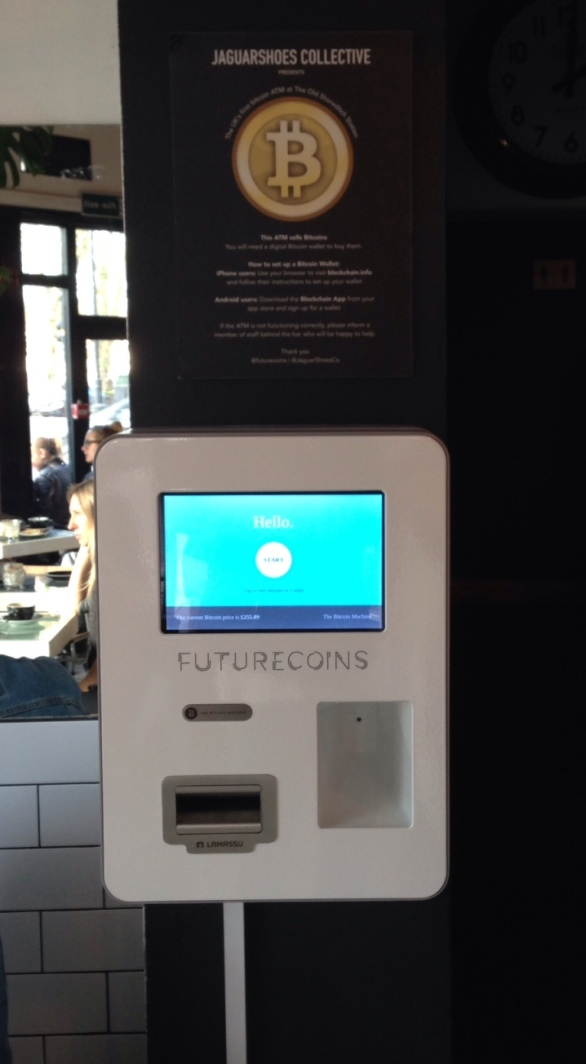 The UK's first Bitcoin ATM - la de da!